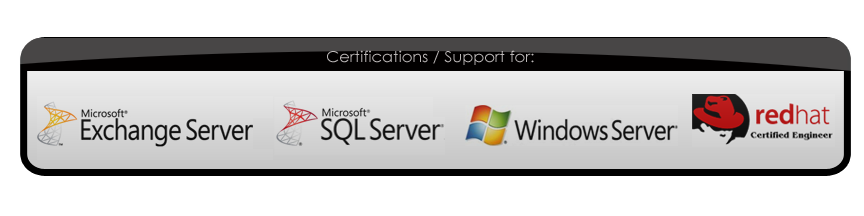 Support for Microsoft Server, Exchange Server, SQL Server,  Red Hat and more